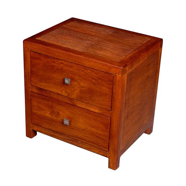 table de chevet 2 tiroirs stri meuble d 39 indon sie 53945. Black Bedroom Furniture Sets. Home Design Ideas