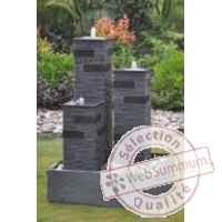 Fontaine theia en pierre granit, de coloris gris Climadream