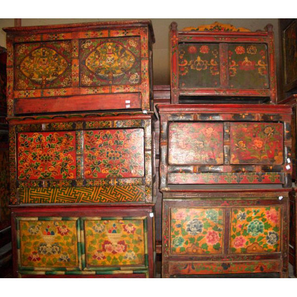 Coffre vieux tibet style chine c0373 dans coffre sur id e for Meuble chine design