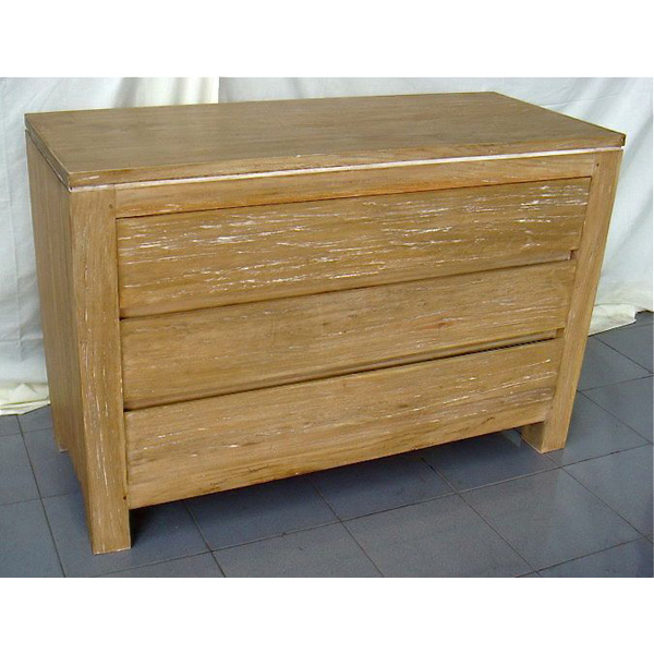 Commode 3 tiroirs bois naturel meuble d 39 indon sie 57053 - Console commode ...