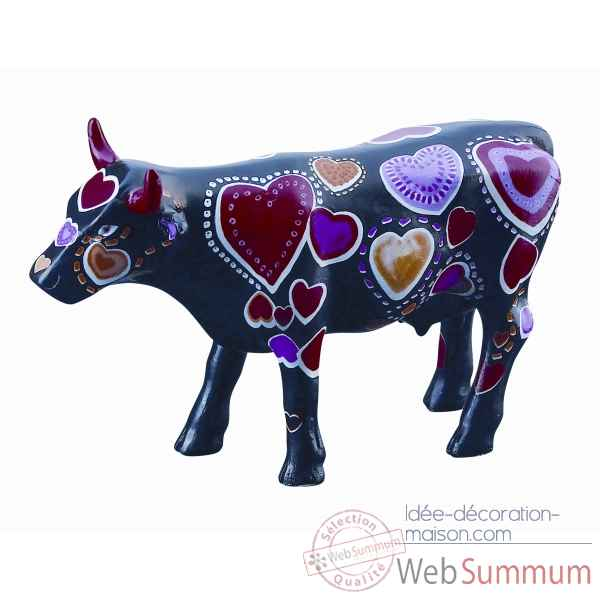 Cow parade -edinburgh 2006, artiste andrew forsyth - coo-ween of hearts-46565