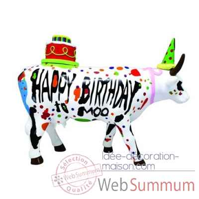 Figurine vache large happy birthday CowParade -GM46778