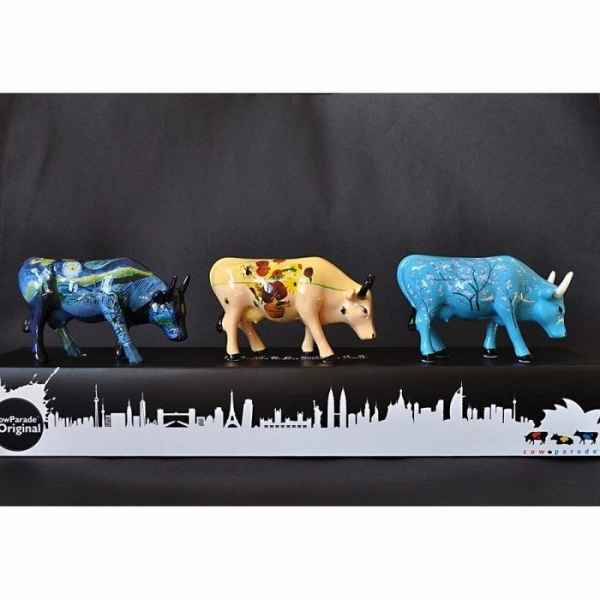 Coffret 3 vaches mini Van Gogh - art pack CowParade - 46601