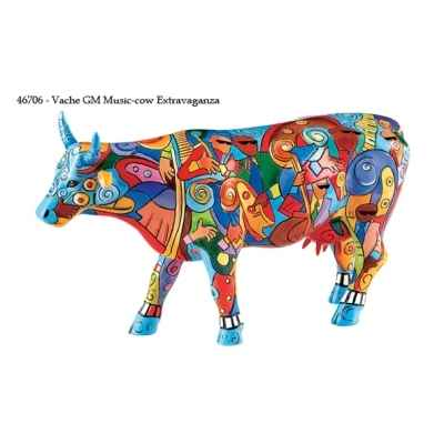 Vache grand modele music-cow extravaganza gm CowParade 46706