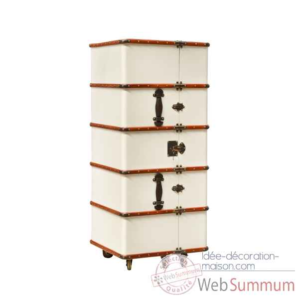 Image et photo de malle de cabine bar ivoire mf078 sur id e d coration maison - Malle decoration maison ...