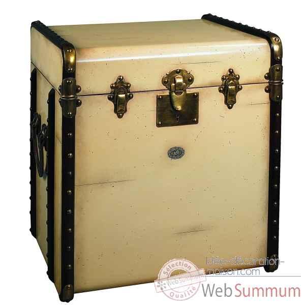 malle de cabine bout canap ivoire mf079 de d coration marine amf dans meuble cabines de. Black Bedroom Furniture Sets. Home Design Ideas