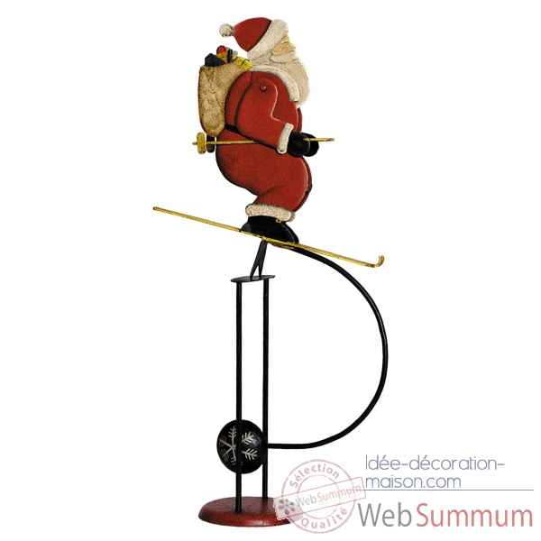 Pere noel sur ski  Decoration Marine AMF TM066