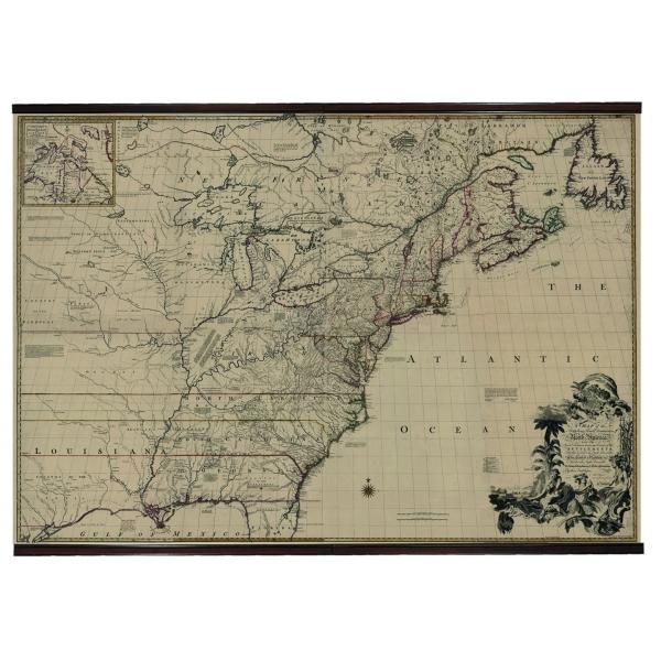 plan am rique du nord 1755 dans toute la d coration marine. Black Bedroom Furniture Sets. Home Design Ideas