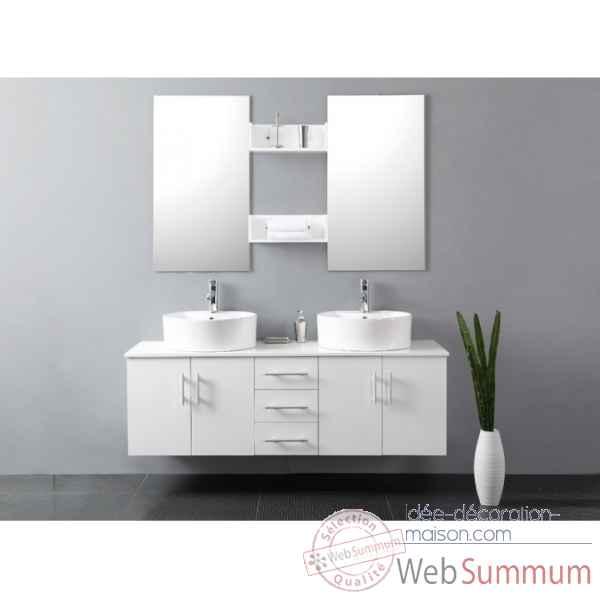 Idee salle de bain meuble avec des id es for Meuble de chambre de bain