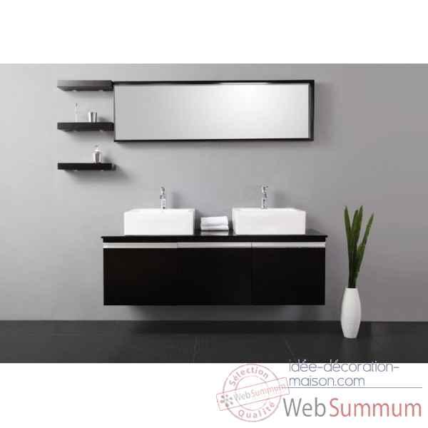 Meuble salle de bain noir et blanc - Idee deco salle de bain noir et blanc ...