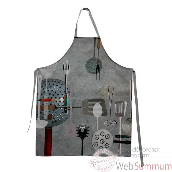 maron bouillie-batterie de cuisine-tablier de cuisine de delphia ... - Tablier De Cuisine Original