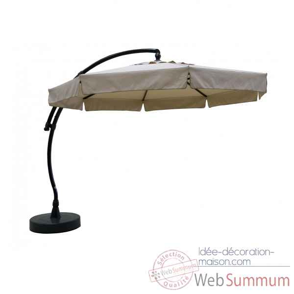 Kit parasol deporte rond taupe clair 350 olefin Easy Sun -10218419