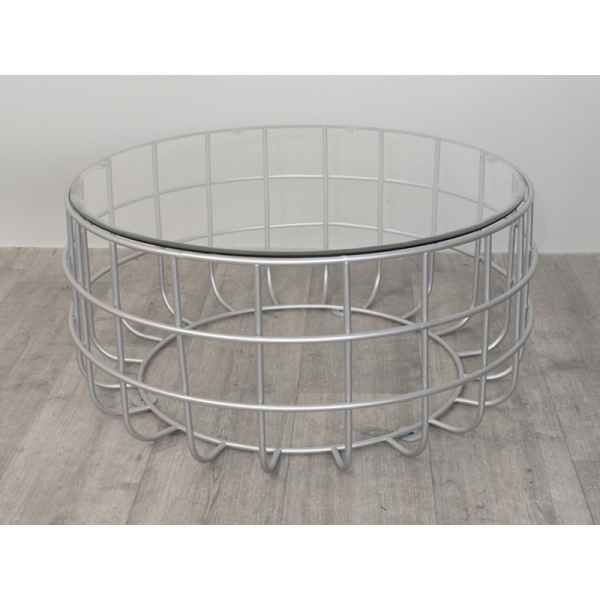 Table basse argent ring 70cm Edelweiss -D3607