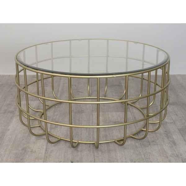 Table basse doree ring Edelweiss -D3631