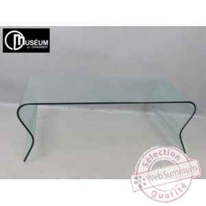 table basse verre transparent Edelweiss -C7567