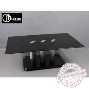 table basse verre trempe peint Edelweiss -C7571