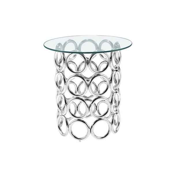 Table ronde acier dinant Edelweiss -D5032