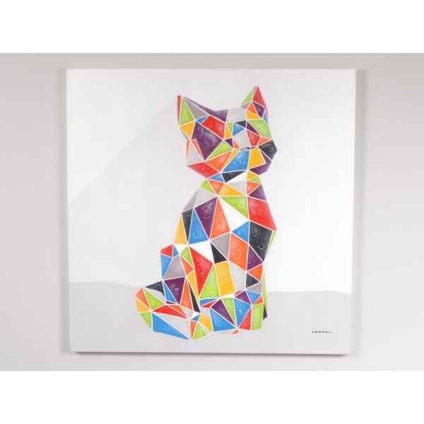 Tableau chat origami 80x80cm Edelweiss -C7060