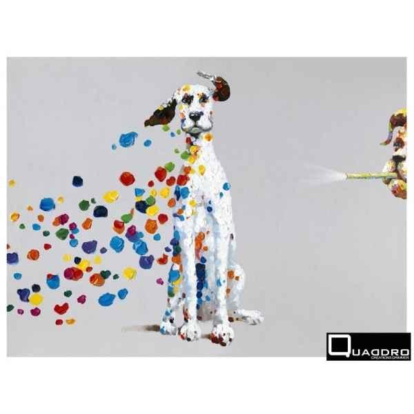 Tableau dalmatien 4 edelweiss toile dalmatien colore 90cm c6912