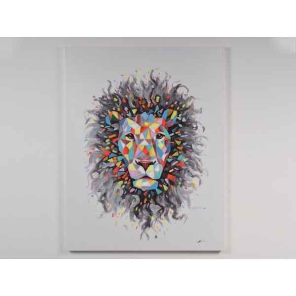 Toile lion origami 90x120cm Edelweiss -C7027