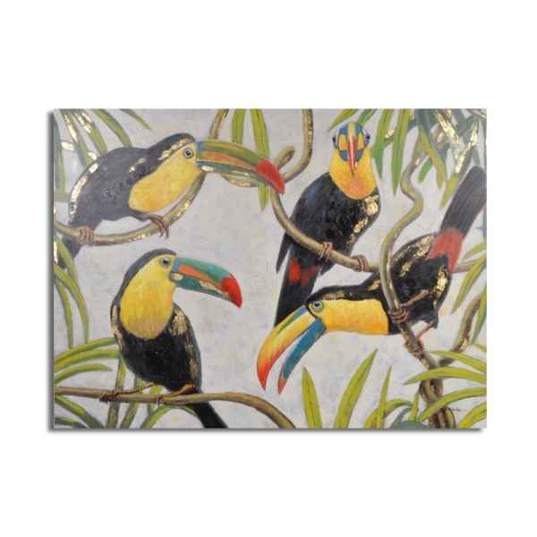 Toile toucan 120x90cm Edelweiss -C7012