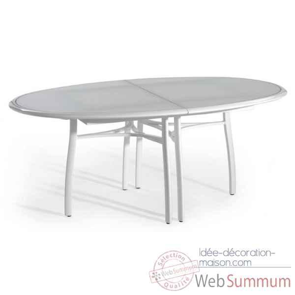 Premi re table ovale extensible ego paris de mobilier for Table exterieur ovale