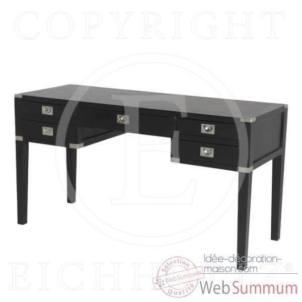 Eichholtz bureau st andrew noir dans tables et bureau for Table bureau noir