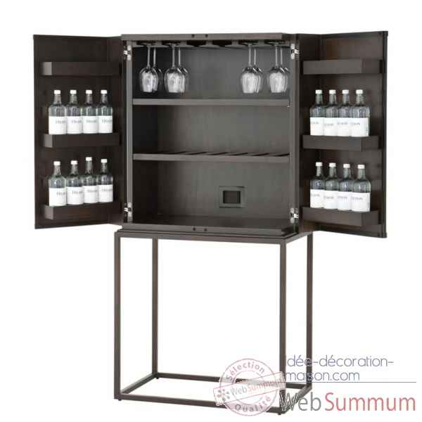 Malle de cabine bar noire d coration marine amf mf078b dans meuble cabines d - Malle decoration maison ...