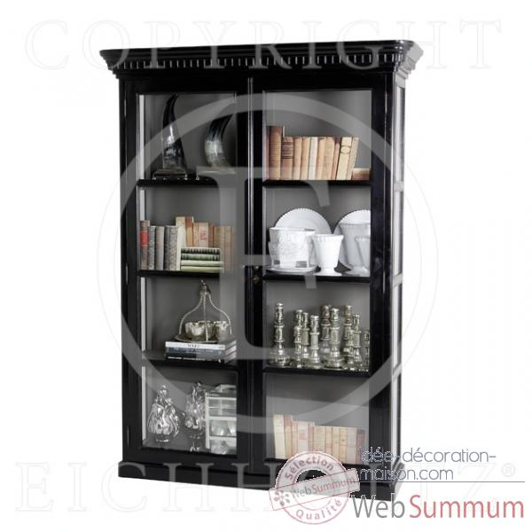 Eichholtz cabinet display all glass finition noir -cab01601