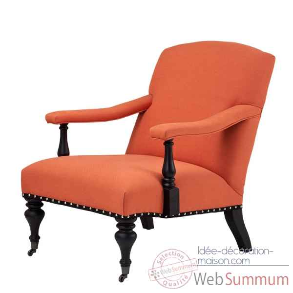 Chaise trident orange Eichholtz -08091