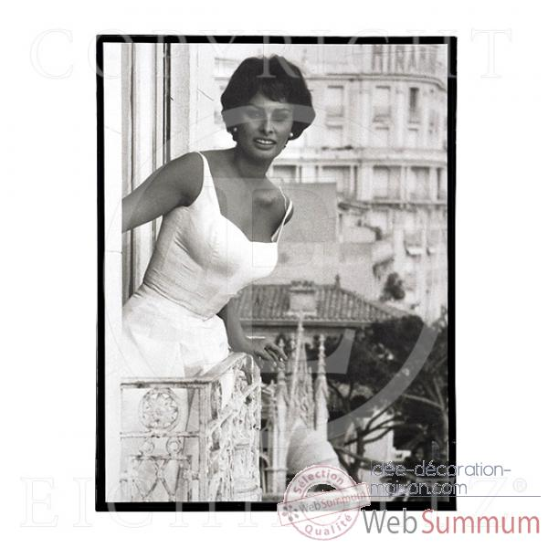 eichholtz photo xl sophia loren bois pri05453 dans objet. Black Bedroom Furniture Sets. Home Design Ideas