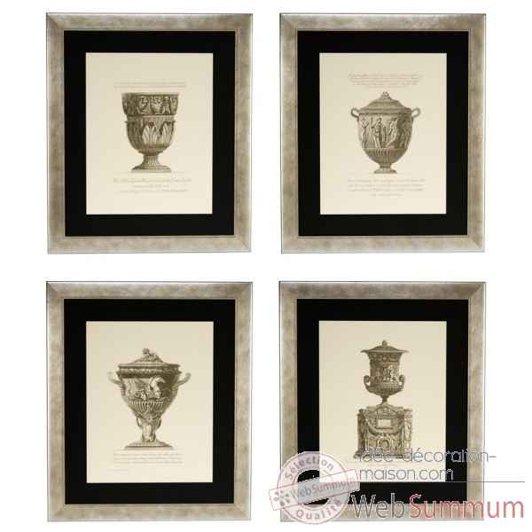Tableaux giovanni battista set de 4 eichholtz -110131