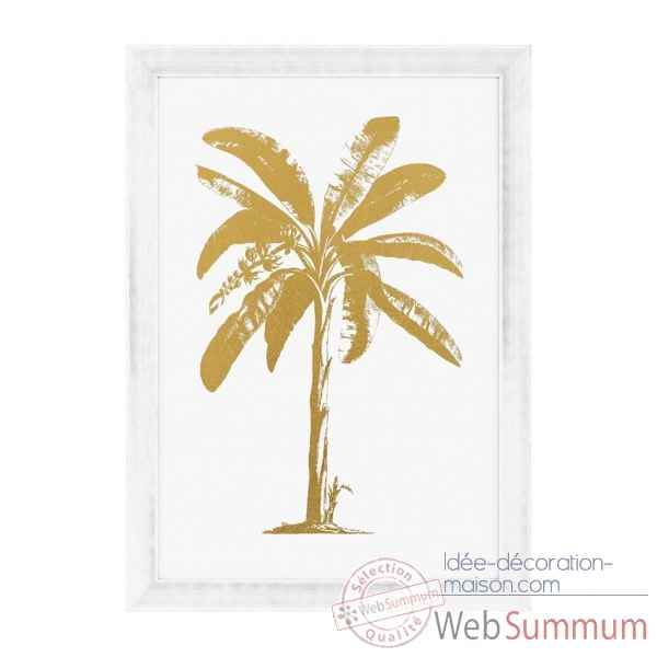 Tableaux gold foil: tropical palm eichholtz -110874