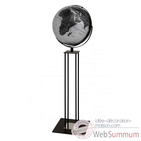 Globe sur pied worldtrophy argent mat night emform -se-0917