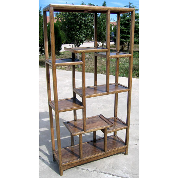 Etag re asym trique simple naturelle style chine chd002nat - Etagere modulable ikea ...