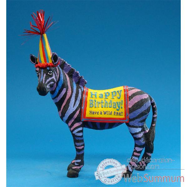 Decoration Anniversaire Zebre : Figurine anniversaire zêbre dans sur