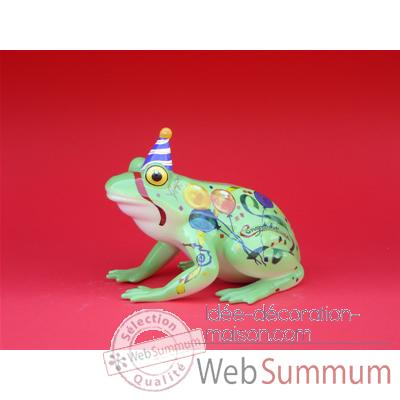Figurine Grenouille - Fanciful Frogs - Happy birthday - 6332