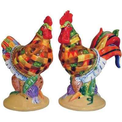 Figurine Poule et Coq Sel et Poivre Pot Pie Poultry in motion -PM16704