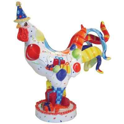 Figurine Coq Cock a doodle birth Poultry in motion -PM16711
