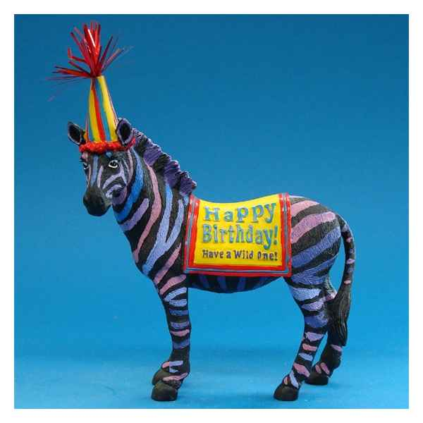 Figurine Zebre Happy Birthday -HP16929