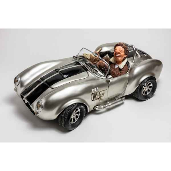 Figurine voiture shelby cobra 427 silver large Forchino -FO85083