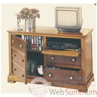 Commode Marrine, 1 porte, 3 tiroirs, 1 tablette, epoque 19eme, 115 x 74 x 48 cm - MA-330tv