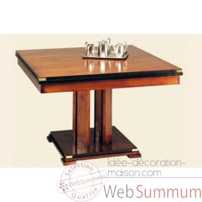 Table de repas 'Square', avec patine, avec 1 allonge de 50 cm, epoque 19eme - 120 x 78 x 120 cm - SQ-059b