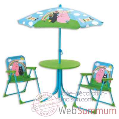 Set table, 2 fauteuils et parasol barbapapa Jemini -711447