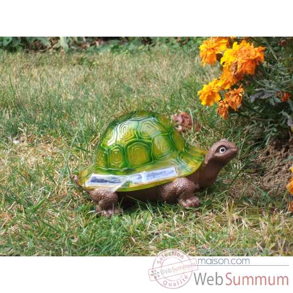 Decoration de jardin lumineuse a energie solaire : tortue Jiawei -G0300117AA