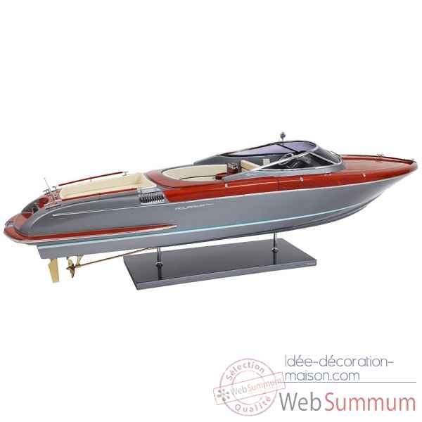 Maquette Riva Aquariva 56 Grey Shark Hull 1:18 -R AQUARIVA 56 GS