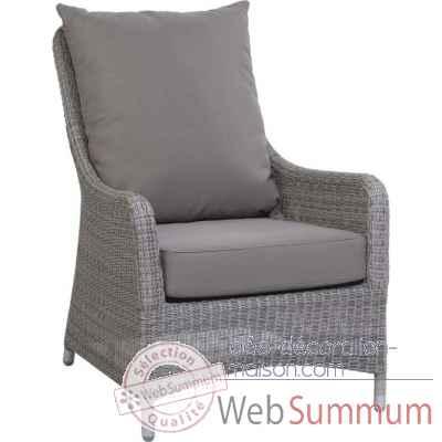 fauteuil transat r sine galet avec coussin tissus gris kok 1328 1h de meuble tendance. Black Bedroom Furniture Sets. Home Design Ideas