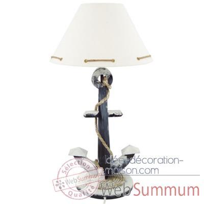 lampe ancre avec cordage produits marins web summum web0640 de objets d cors marins. Black Bedroom Furniture Sets. Home Design Ideas