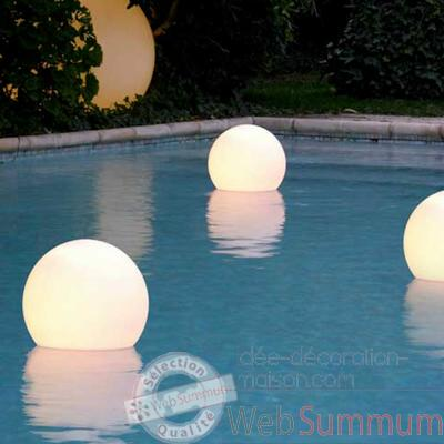 Boule lumineuse acquaglobo 35 slide lp sfg035 dans for Boules lumineuses piscine