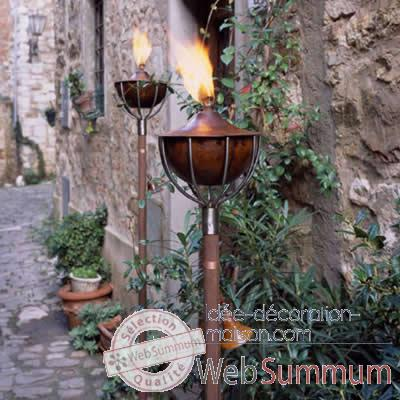 2 Lampes a huile Roma style cuivre Aristo - 824619